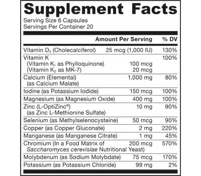 Mineral Balance 120 capsules - alle vitale mineralen + vitamine D3 & K2 | Jarrow Formulas