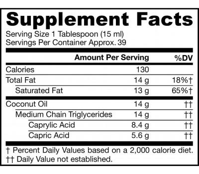 MCT Oil Liquid - Medium Chain Triglycerides from coconut oil | Jarrow Formulas