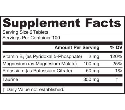 Magnesium Optimizer 200 tablets - magnesium malate + potassium citrate + taurine + P5P | Jarrow Formulas