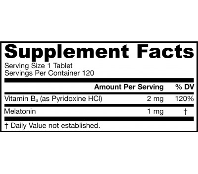 Melatonin Sustain 1mg 120 tablets - melatonin for a slow and gradual absorption | Jarrow Formulas