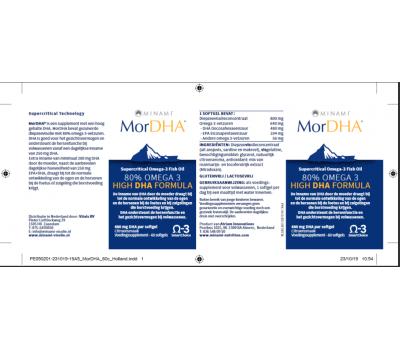 MorDHA 60 softgels - hooggedoseerde DHA formule   Minami Nutrition