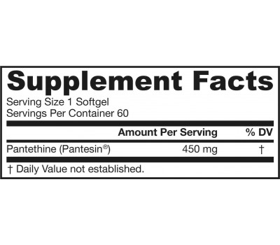 B5 - Pantethine 60 softgels - metabolite of pantothenic acid | Jarrow Formulas