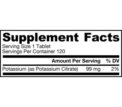 Potassium citrate 99mg 120 tablets | Jarrow Formulas