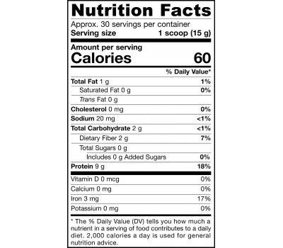Organic Pumpkin Seed Protein Powder 454g, a gluten-free vegetable source of whole food protein | Jarrow Formulas