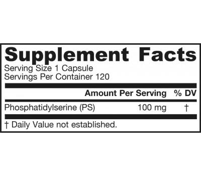 PS-100 120 capsules - fosfatidylserine | Jarrow Formulas