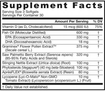 Prostate Optimizer 90 softgels - saw palmetto, vitamine D3, lycopeen, brandnetel, pollen en boswellia | Jarrow Formulas