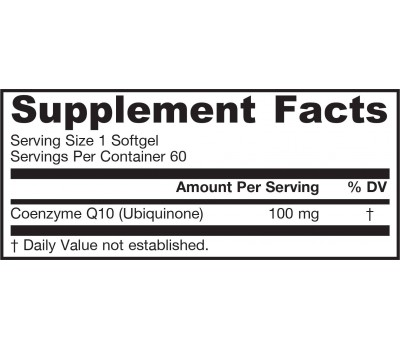 Q-absorb 100mg 60 softgels - ubiquinone (co-enzym Q10) with phospholipids | Jarrow Formulas