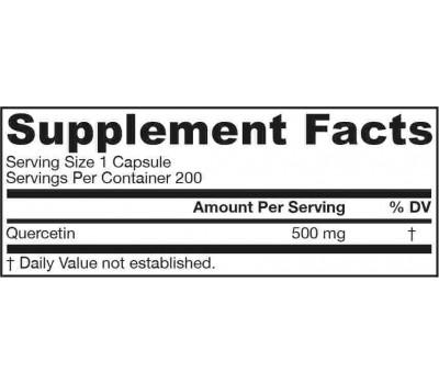 Quercetin 500mg 200 capsules - quercetine antioxidant | Jarrow Formulas