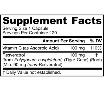Resveratrol 100mg 120 capsules grootverpakking | Jarrow Formulas