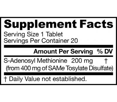 SAM-e 200mg 10 tabletten blisterproefverpakking - S-adenosylmethionine | Jarrow Formulas