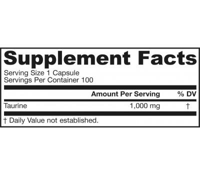 Taurine 100 capsules | Jarrow Formulas