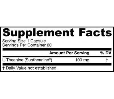 Theanine 100mg 60 capsules   Jarrow Formulas