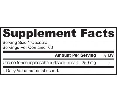 Uridine 60 capsules - nucleotide uridine 5' monophosphate disodium salt   Jarrow Formulas