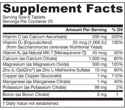 Vegan Bone-Up 120 tablets - a vegan source of calcium for strong bones | Jarrow Formulas