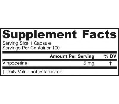 Vinpocetine 5mg 100 capsules | Jarrow Formulas