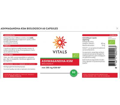 Ashwagandha (Organic) extract 300mg 100 capsules | Vitals