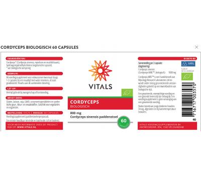 Cordyceps  60 capsules - organic extract from Cordyceps sinensis | Vitals