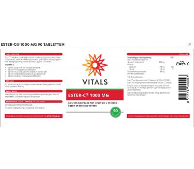 C - Ester C 90 tablets - calcium ascorbate + citrusbioflavonoids | Vitals