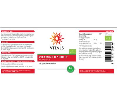 D -  Organic Vegan vitamin D 1000iu 60 tablets from organic mushrooms  | Vitals