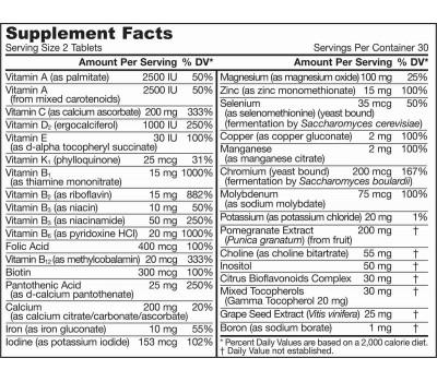 Women's Multi 60 tabletten - vitamines, mineralen, anti-oxidanten en kruiden | Jarrow Formulas