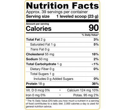 Whey Protein 100% Natural 908g Unflavoured - 100% natuurlijk smaakloos weipoeder | Jarrow Formulas