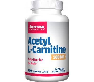 Acetyl-L-carnitine 500mg 120 capsules grootverpakking - antioxidant bescherming voor het brein | Jarrow Formulas