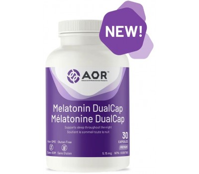 Melatonin DualCap - melatonin with both rapid and slow release to support sleep throughout the night | AOR