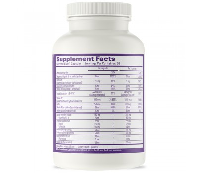 SuperFocus 60 capsules - Bacopa monniera, ginseng , rhodiola, theanine, and B-vitamins | AOR