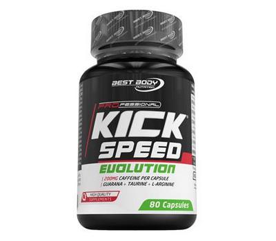 Kick Speed Evolution Pro 80 capsules - guarana, cafeïne, taurine en vitamines   Best Body