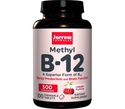 B12 - Methylcobalamin 500mcg 100 lozenges cherry flavour  | Jarrow Formulas
