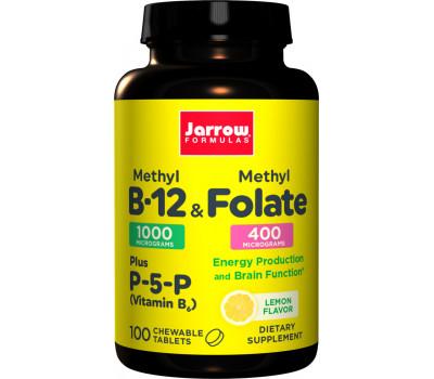 B - Methyl B12 1mg & MethylFolate 400mcg 100 lozenges | Jarrow Formulas