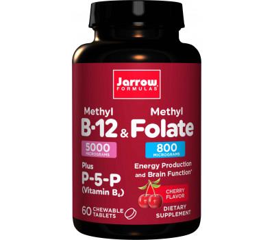B - Methyl B12 5mg & Methyl Folate 800mcg 60 lozenges | Jarrow Formulas