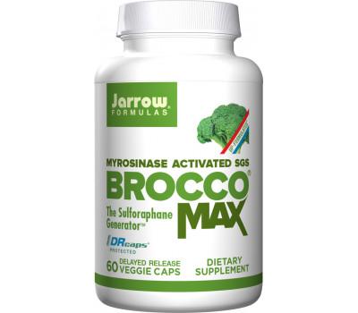 BroccoMax delayed release 60 capsules trial-size - broccoli extract with sulforaphane glucosinolate (SGS) | Jarrow Formulas