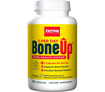Bone-Up Three Per Day 90 capsules - calcium (MCHA) , magnesium, vitamine C, D3, K2 (MK-7) - best source of calcium for strong bones | Jarrow Formulas