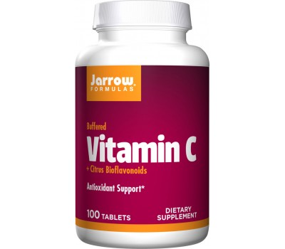 C (Buffered) 100 tabletten - calciumascorbaat + citrusbioflavonoiden | Jarrow Formulas