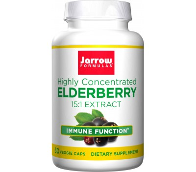 Elderberry 60 capsules - highly concentrated 15:1 elderberry extract with bioactive flavonoids | Jarrow Formulas