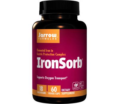 IronSorb 60 capsules - gecheleerd ijzer-eiwit-barnsteenzuurcomplex | Jarrow Formulas