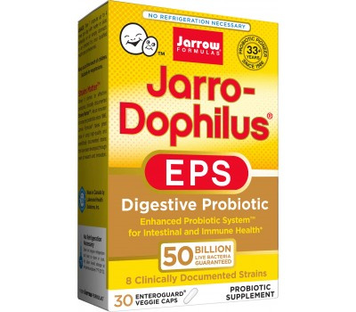 Jarro-Dophilus EPS Ultra Potency 50 billion 30 capsules, the ultimate travel probiotic | Jarrow Formulas