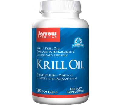 Krill Oil 120 softgels - 100% zuivere krillolie + astaxanthine | Jarrow Formulas