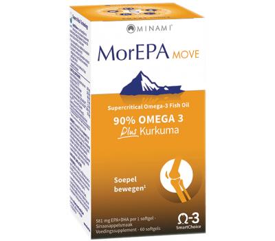 MorEPA Move 60 softgels - high-EPA formula with added curcumin | Minami Nutrition