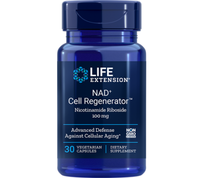 NAD+ Cell Regenerator 100mg 30 capsules - nicotinamide riboside | Life Extension