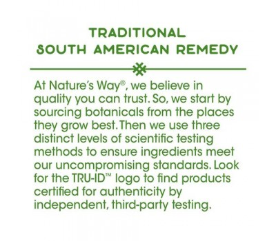 Pau d'Arco inner bark 180 capsules - traditional botanical ingredient of the rainforest | Nature's Way