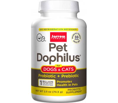 Pet Dophilus 70g powder - temperature stable with 4 strains and 1 billion viable cells per gram | Jarrow Formulas