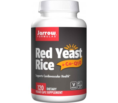 Red Yeast Rice + Q10 120 capsules - Monascus purpureus + ubiquinone (co-enzyme Q10) | Jarrow Formulas