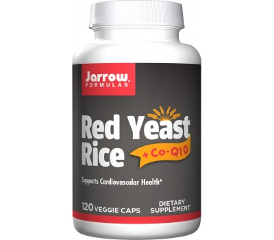 Red Yeast Rice + Q10 120 capsules - Monascus purpureus + ubiquinone (co-enzyme Q10) | Jarrow Formulas