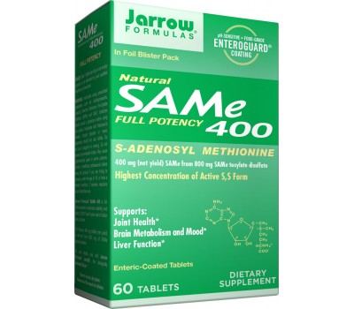 SAM-e 400mg 60 tablets value-size - S-Adenosyl Methionine | Jarrow Formulas