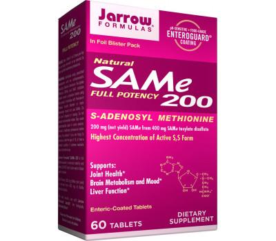 SAM-e 200mg 60 tablets S-adenosylmethionine   Jarrow Formulas