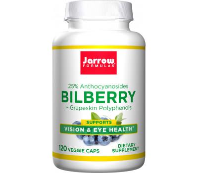 Bilberry + grapeskin 120 capsules - Zweedse bosbes, OPC, resveratrol, pycnogenol   Jarrow Formulas