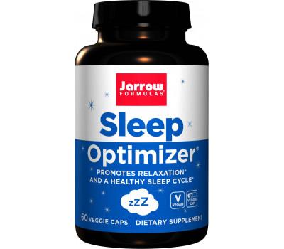 Sleep Optimizer 60 capsules - GABA, melatonin, tryptophan, hops, lemon balm & valerian | Jarrow Formulas
