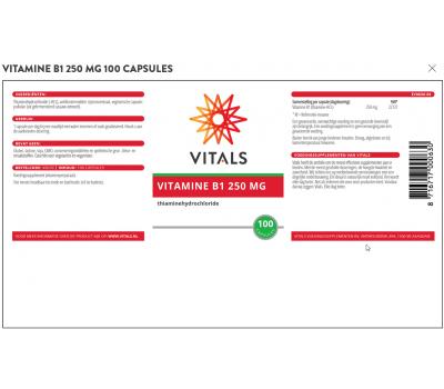 B1 - vitamin B1 Thiamine 250mg 100 capsules | Vitals